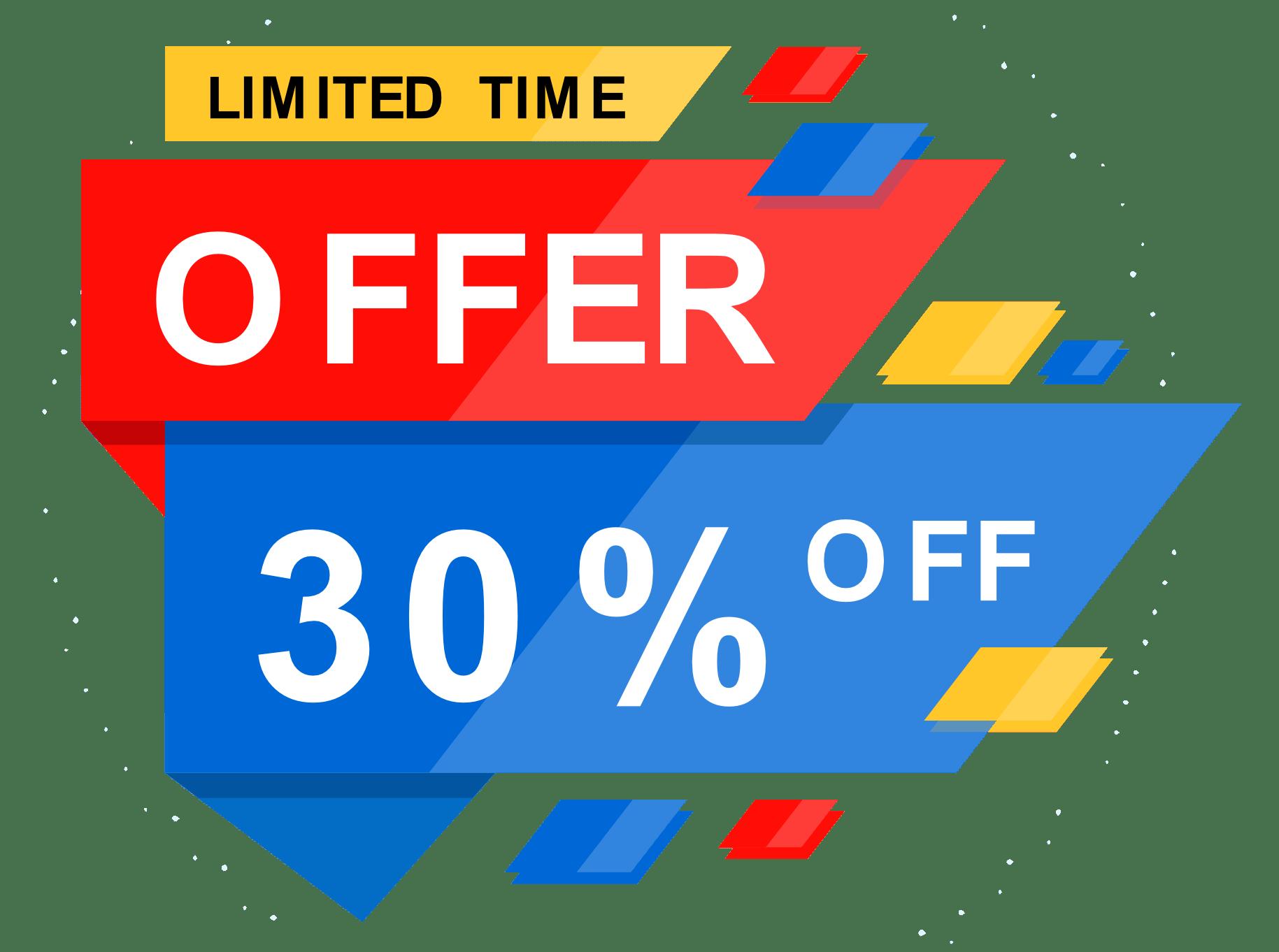 eCommerce development offer 30% off