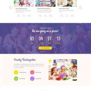 Kindergarten School website template