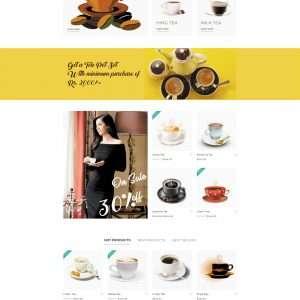 Tea website website template