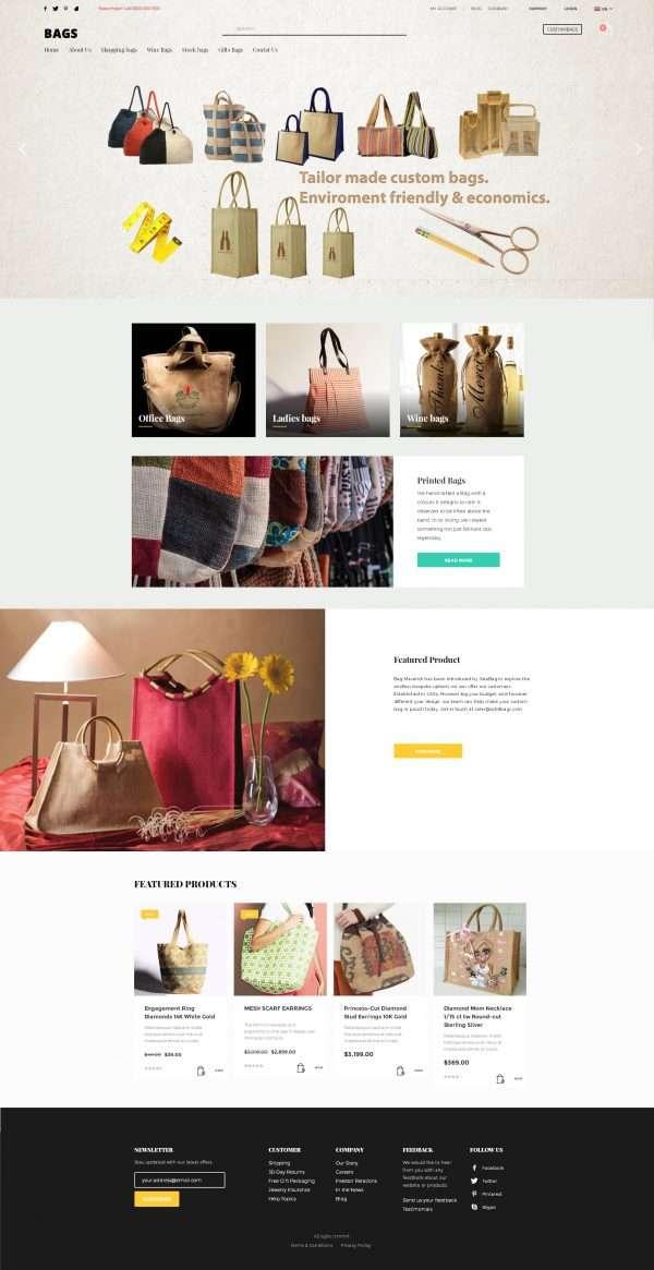 bags website template
