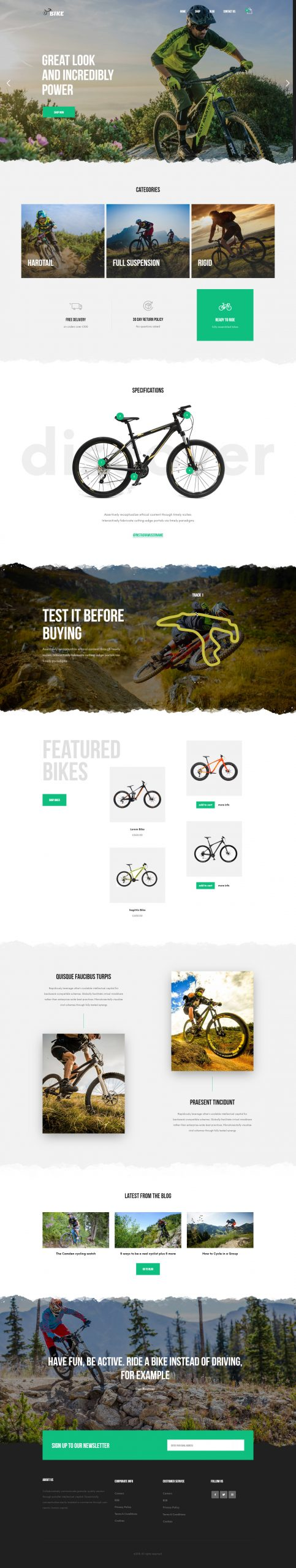 bike cycle website template