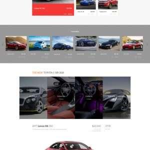 car trade website template