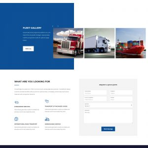cargo website template