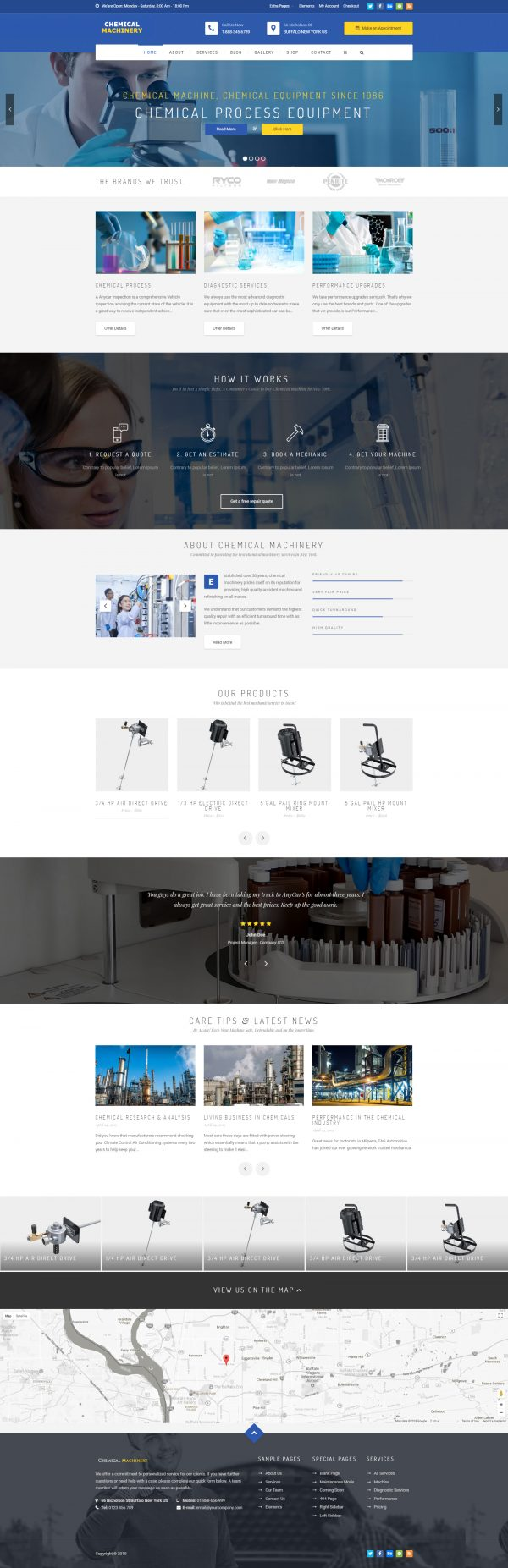 chemical machinery website template