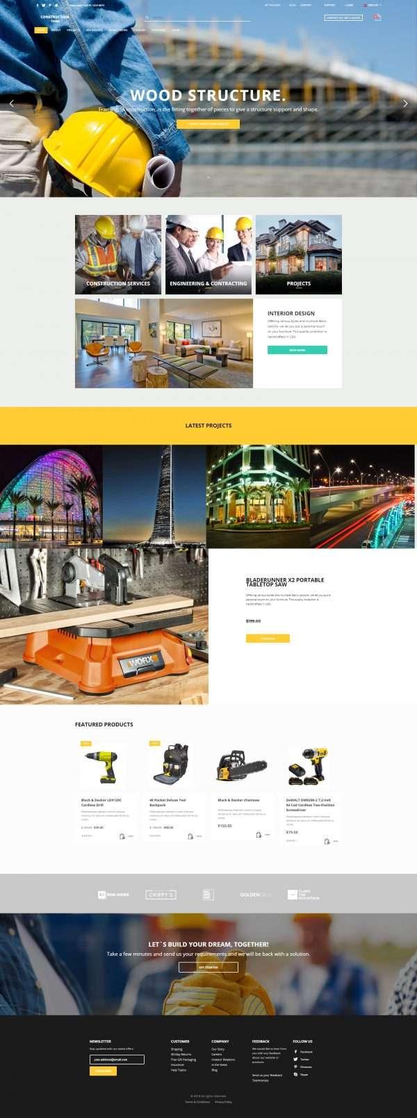 constructions website template