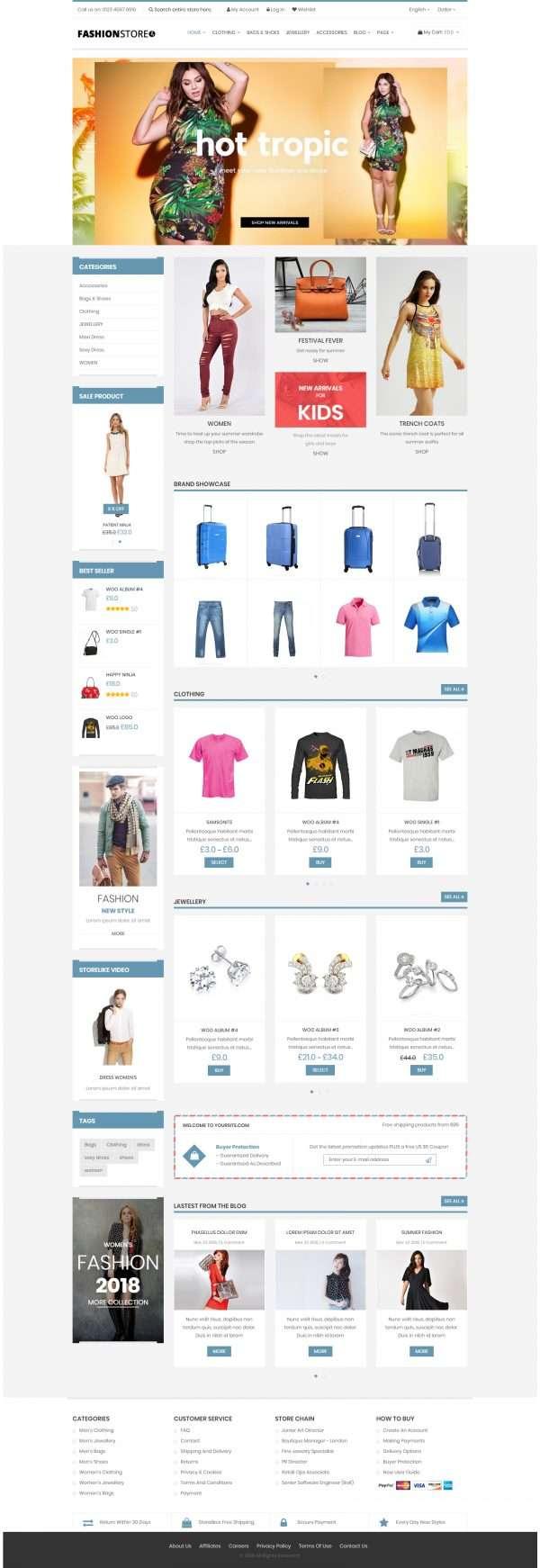 Fashion store Website Templates
