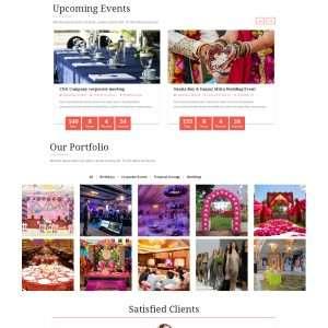 Event web template