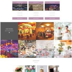 Event management web template