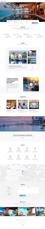 hotel resort website template