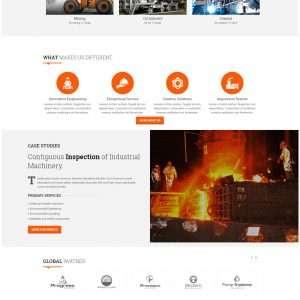 Industrial Machinery website template