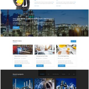 Industrial product supplier website template