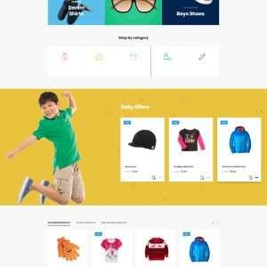 kids store website template