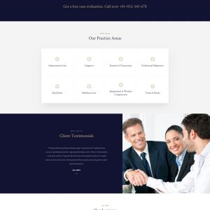 lawyers website template