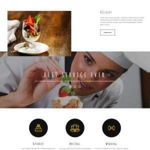 Restaurants website template