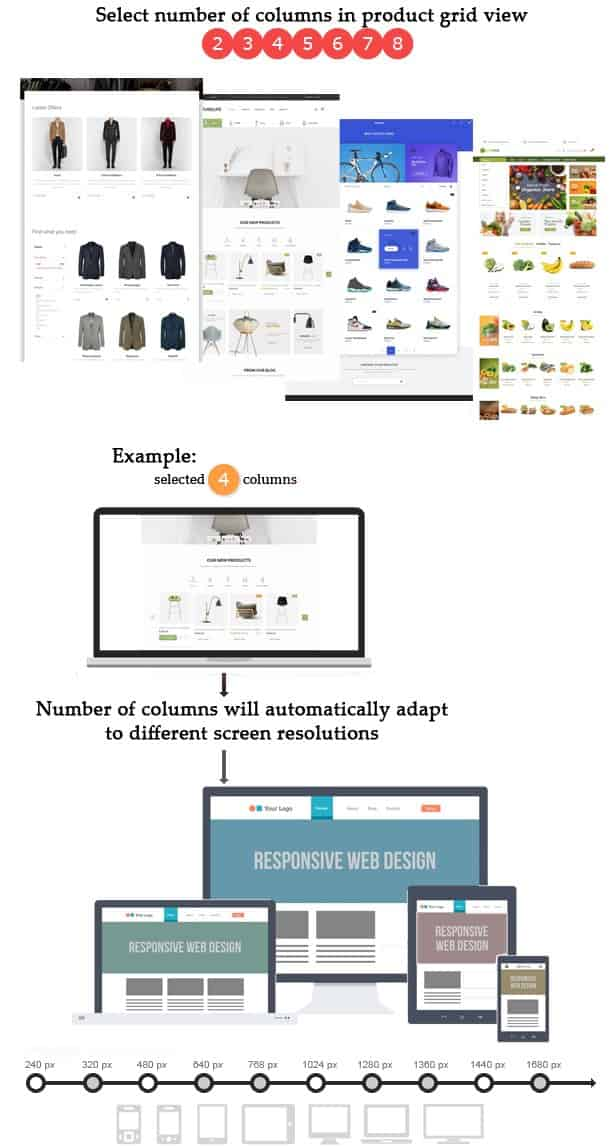 Customize product grid